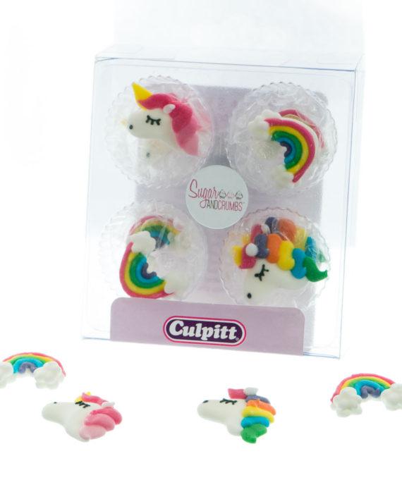 Sugar Pipings Unicorns Pack Of 12 Sugar And Crumbs