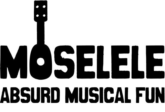 The Moselele logo, featuring a ukulele for an 'O'.