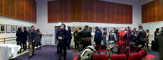 Photo of the Pointe Blank exhibition launch