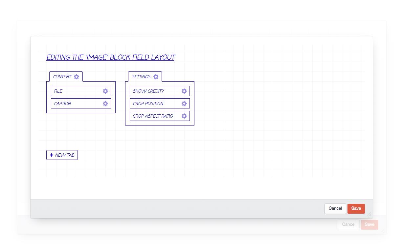 block type field layout