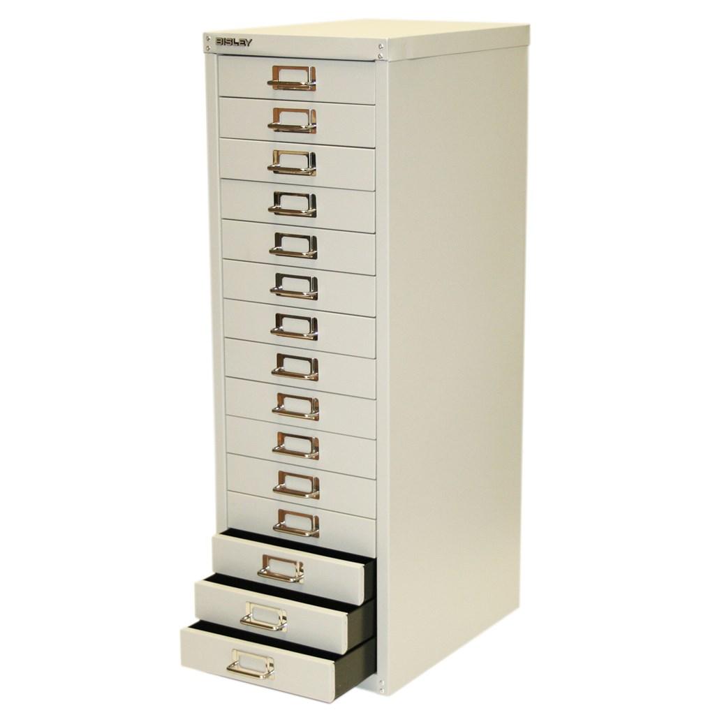 Bisley 10 / 15 Drawer Multidrawer A4 Filing Storage Cabinet Red ...