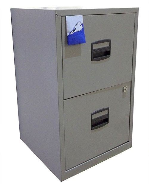 3 Drawer Bisley Home Office A4 Metal Filing Cabinet 2 Colour Choice