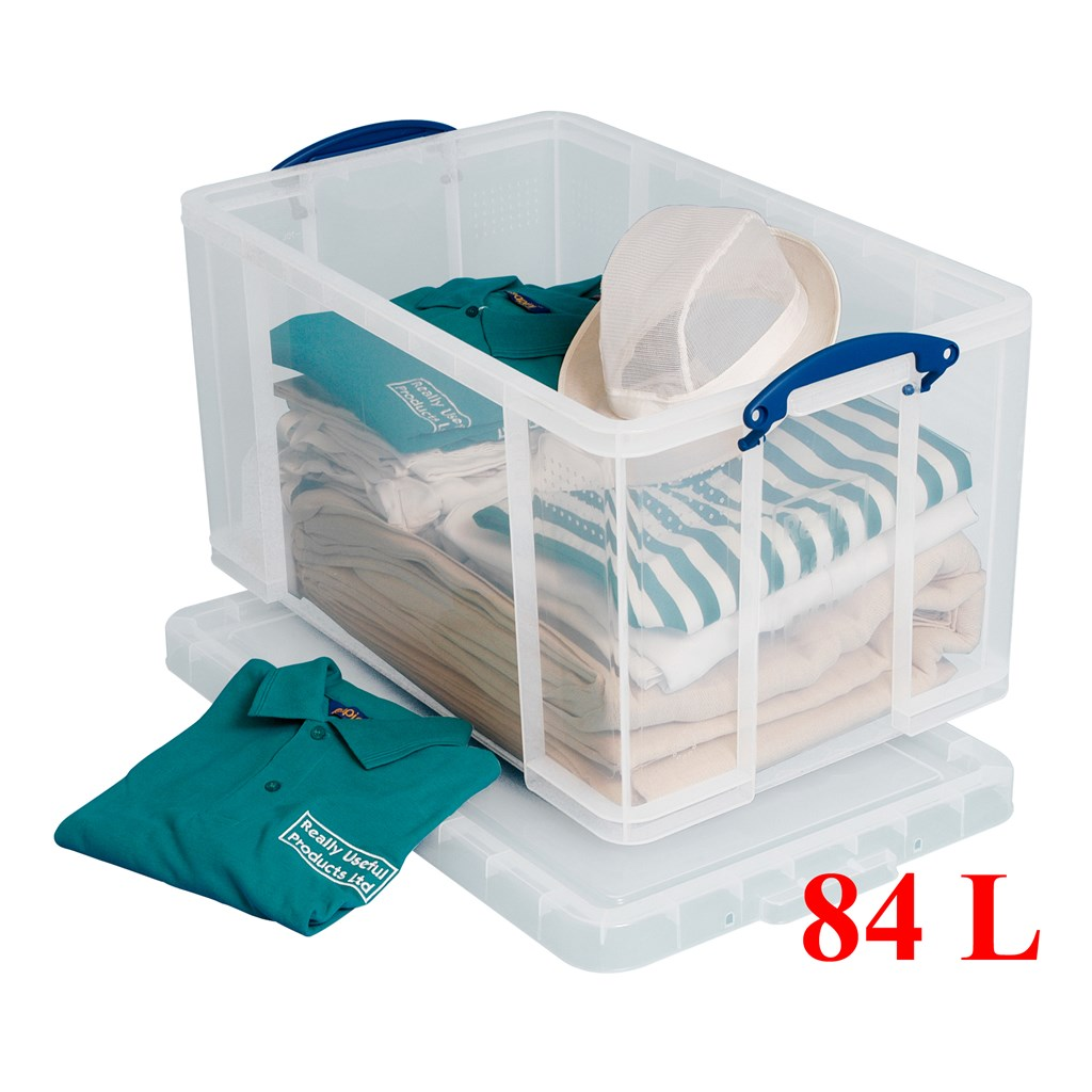 Really-Useful-Boxes-Heavy-Duty-Stackable-Storage-Box-  sc 1 st  eBay & Really Useful Boxes Heavy Duty Stackable Storage Box 35 - 84 Litre ...