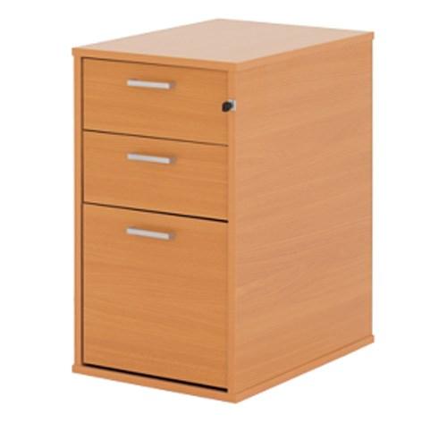 Home fice 3 Drawer Wooden Desk File Filing Cabinet Beech