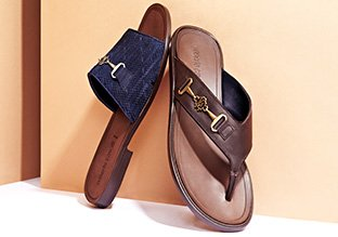Leather Men Slippers