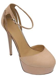 Asos Beige Leather Ladies Heel Shoe