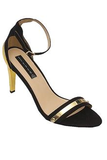 Steven Black Suede Leather Ladies Heel Shoe