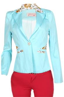 Fashion Blue Ladies Bolero Jacket