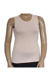 Peach Ladies Cotton sleeveless Top Wt Bronze Stud