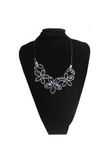 Fashion Jewelry Deep Blue/Gray Ladies Necklace