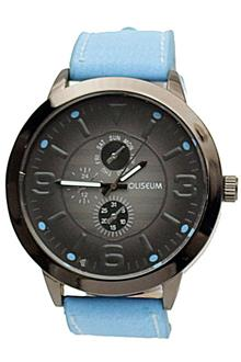 Coliseum Skye Blue Leather Mens  Watch