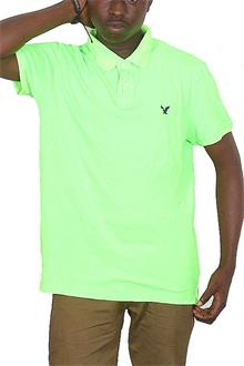 American Eagle Green Men's Polo