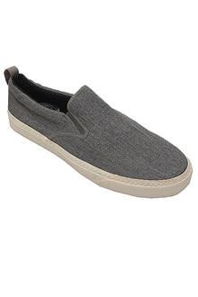 Live For The Sole Gray Denim Cotton Men Sneakers