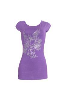 Re Dial Luxury Purple Cotton Ladies Top