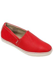 Knoway Red Leather Men Sneakers