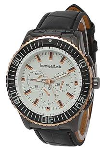 Tommy&Hands Black Leather Mens Watch