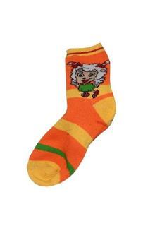 Orange/Yellow Stripe  Kids socks