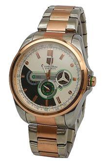 Mercedez-Benz Silver-Rose Gold Steel Men Watch