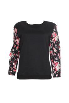 Lavish Alice Black Cotton L/Sleeve Ladies Top