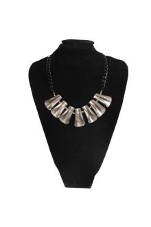 Fashion Jewelry Gray Wt Black Chains Ladies Necklace