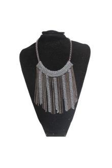 Fashion Jewelry Gray Mix Beaded Ladies Necklace