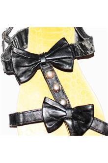 BQL Black Leather Ladies Sandals Wt Minor Peel