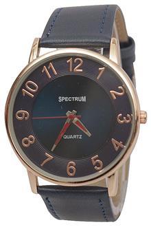 Spectrum Navy Blue Leather Men Watch