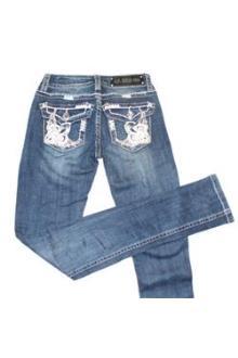 L.A Idol Blue Ladies Studded Pencil Jeans