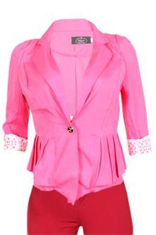 Amon Pink Ladies Bolero Jacket