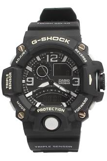 G-Shock Casio Black Rubber Strap Men's Dual Sport Watch