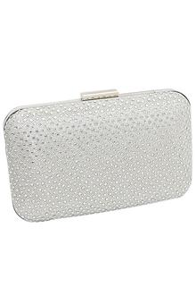 Silver Ladies Clutch Purse