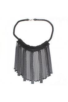 Fashion Jewelry Black Beaded Ladies Necklace