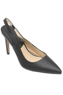 Zara Black Leather Ladies Heel Shoe