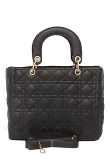 Fashion Black Leather Ladies Handbag