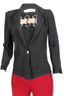 Baomei Black Ladies Bolero Jacket