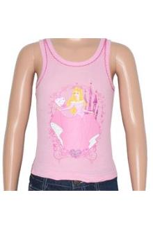 Pink Cotton Print Design Girls Tank Top