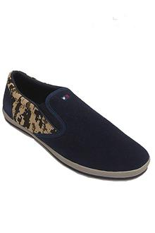 Ent Nte Navy Suede Leather Men Sneakers