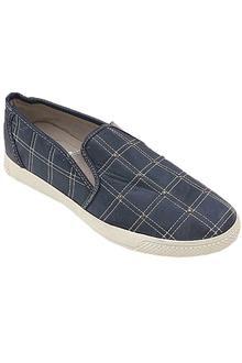 Respect Navy Leather Men Sneakers