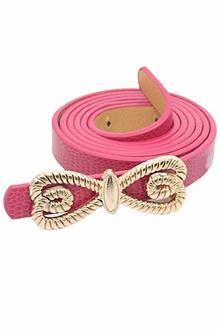 Pink Ladies Leather Belt L 43