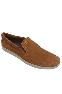 Cat Brown Suede Leather Men Sneakers