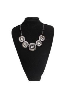 Fashion Jewelry Grey Round Shape Ladies Necklace