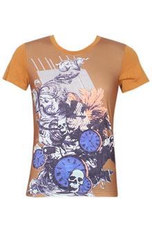 Vancede Brown Men's Fitted T-Shirt