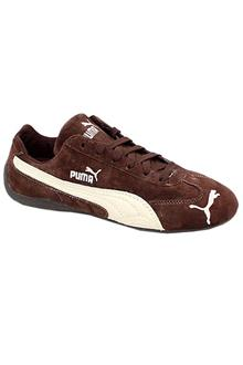 Puma Brown Leather Lace-up Mens Joggers