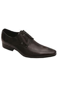 Texas Black Leather Mens Formal Shoe
