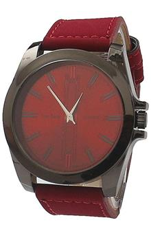 Tommy & Hands Wine Leather Men Watch