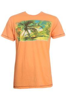 Marco Manzini Orange Printed Men's Fitted T-Shirt