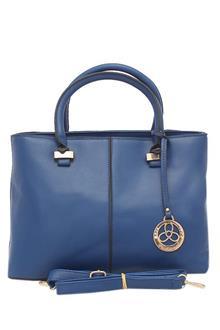 Fashional Blue Leather Ladies Handbag