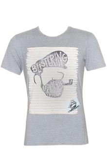 Leicheng Gray Printed Men's Fitted T-Shirt
