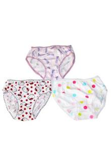 Kitty  Cotton 3Pcs Multicolor Girl's Pant Set