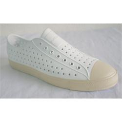 Native White Rubber Men's Casual Shoe Wt Dotted Pattern